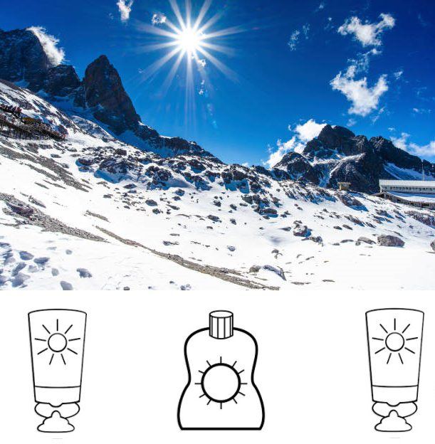 Protégete del sol también en la montaña